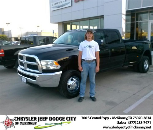 Thank you to Kyle Henneman on the Dodge Ram from David Walls and everyone at Dodge City of McKinney! by Dodge City McKinney Texas