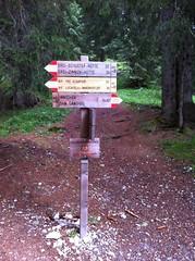 Wegweiser Schusterhütte Innerfeldtal