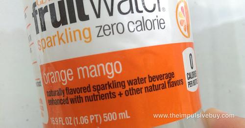 Glaceau Fruitwater Orange Mango Name