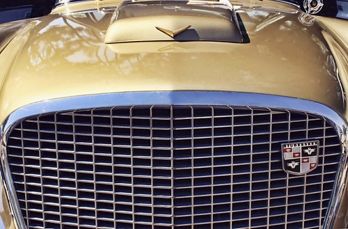 Golden Studebaker Hawk. Photo copyright Jen Baker/Liberty Images; all rights reserved.