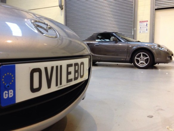 MX-5 Number Plate Changed