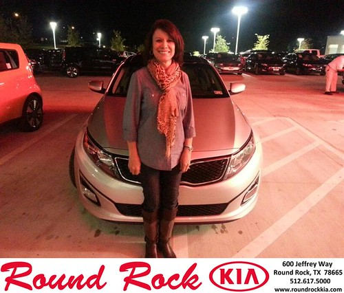 Thank you to Aida Jones on your new 2014 #Kia #Optima from Michael Glass and everyone at Round Rock Kia! #NewCarSmell by RoundRockKia