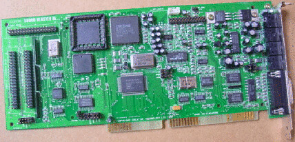 Chunky old ISA sound card