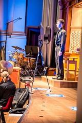 Tiraki organist Nick Forbes taking applause