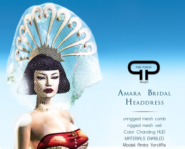 Pure Poison - Amara Bridal Headdress