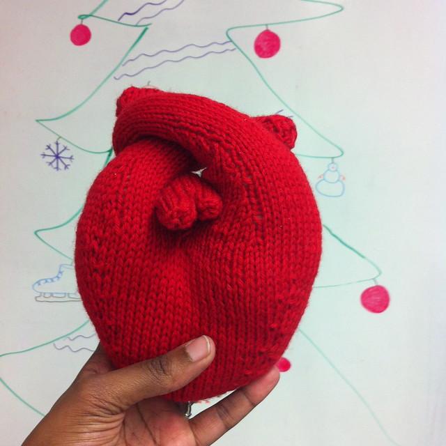 Hand Knit Heart