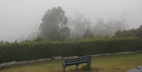 Cloudy misty peak