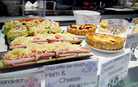 faubourg sandwich selection