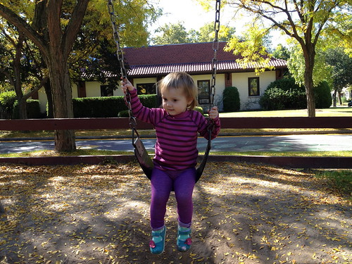 "on the ""big girl"" swing"