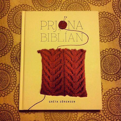 New knitting book that I won, woohoo!