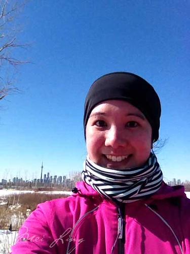 selfie during my last winter run