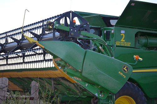 Walking the combine in proves a challenge