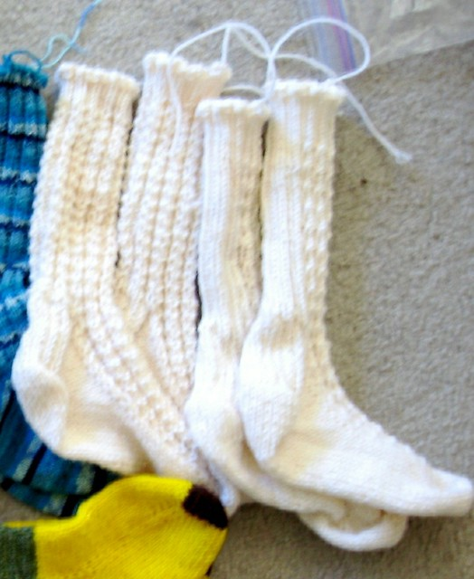 White a4a youth socks