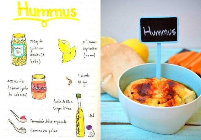 Hummus ilustracion dibujo
