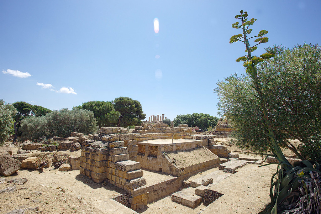 Entering the Olympeion field