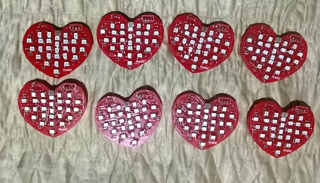 All Hearts soldered just in time