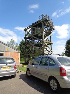 wooden radar tower