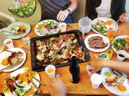 Roast Pork Belly for a Farewell Dinner