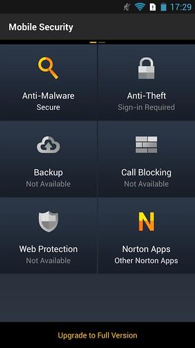 Norton Mobile Security ที่มีมาให้ เป็น Basic version แต่ก็กัน Malware ได้อยู่