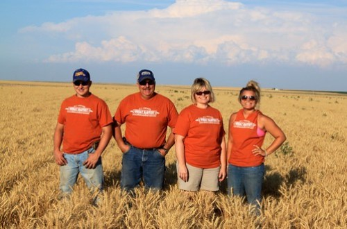 Crew photo! From left to right: Brandon, Bob (dad), Loree (mom) and Steph!