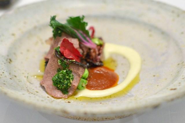 Tea Smoked and Grilled Beef Ribs radicchio, portabello mushroom, persillade