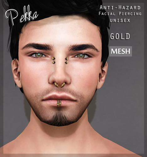 pekka anti hazard facial piercing unisex gold
