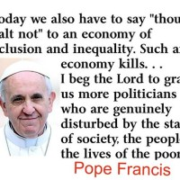 Pope Francis Calls for Broad Front Against Tyranny and Savage Capitalism