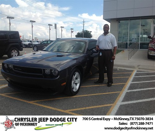 Thank you to Kent Fisher on the 2013 Dodge Challenger from Brent Villarreal and everyone at Dodge City of McKinney! by Dodge City McKinney Texas