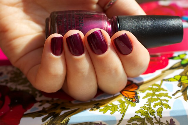 10 China Glaze Autumn Nights Don't Make Me Wine