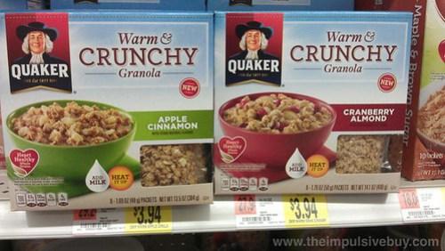 Quaker Warm & Crunchy Granola