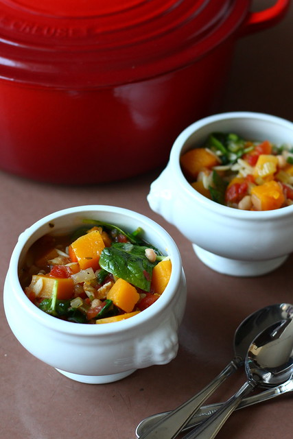 Hearty winter minestrone