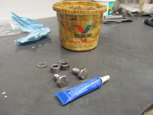 Grease For Center Stand Bushing and Locktite for the Bolt