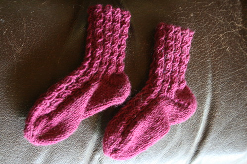 Baby Cabled Socks
