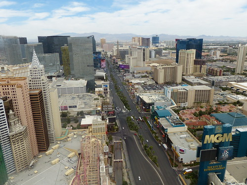 Looking down on the Las Vegas Strip