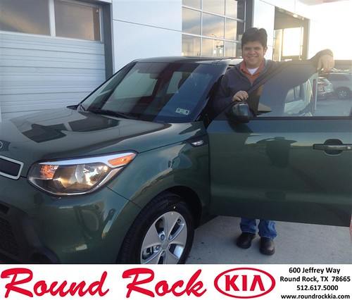 Thank you to Efrain  Guerrero on your new 2014 #Kia #Soul from Bobby Nestler and everyone at Round Rock Kia! #NewCarSmell by RoundRockKia