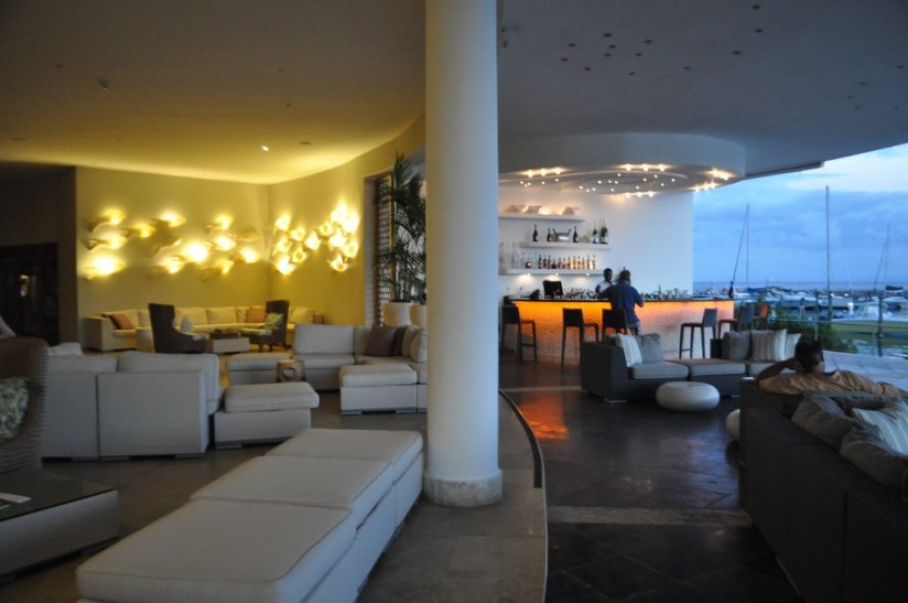 The Indoor, Outdoor Lobby of The Bannister Hotel, Samaná, Dominican Republic.