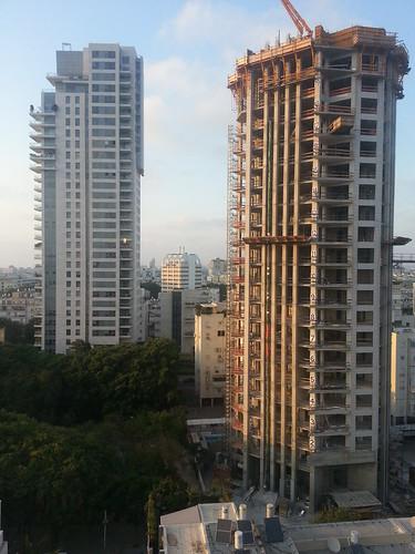 Towers construction in Tel-Aviv
