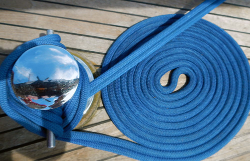 coiled rope on a tall ship