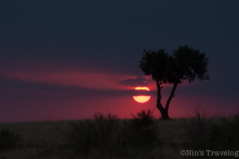 Sunset in Masai Mara Triangle