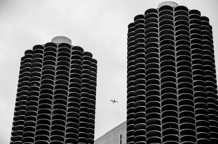 Plane and Wilco towers