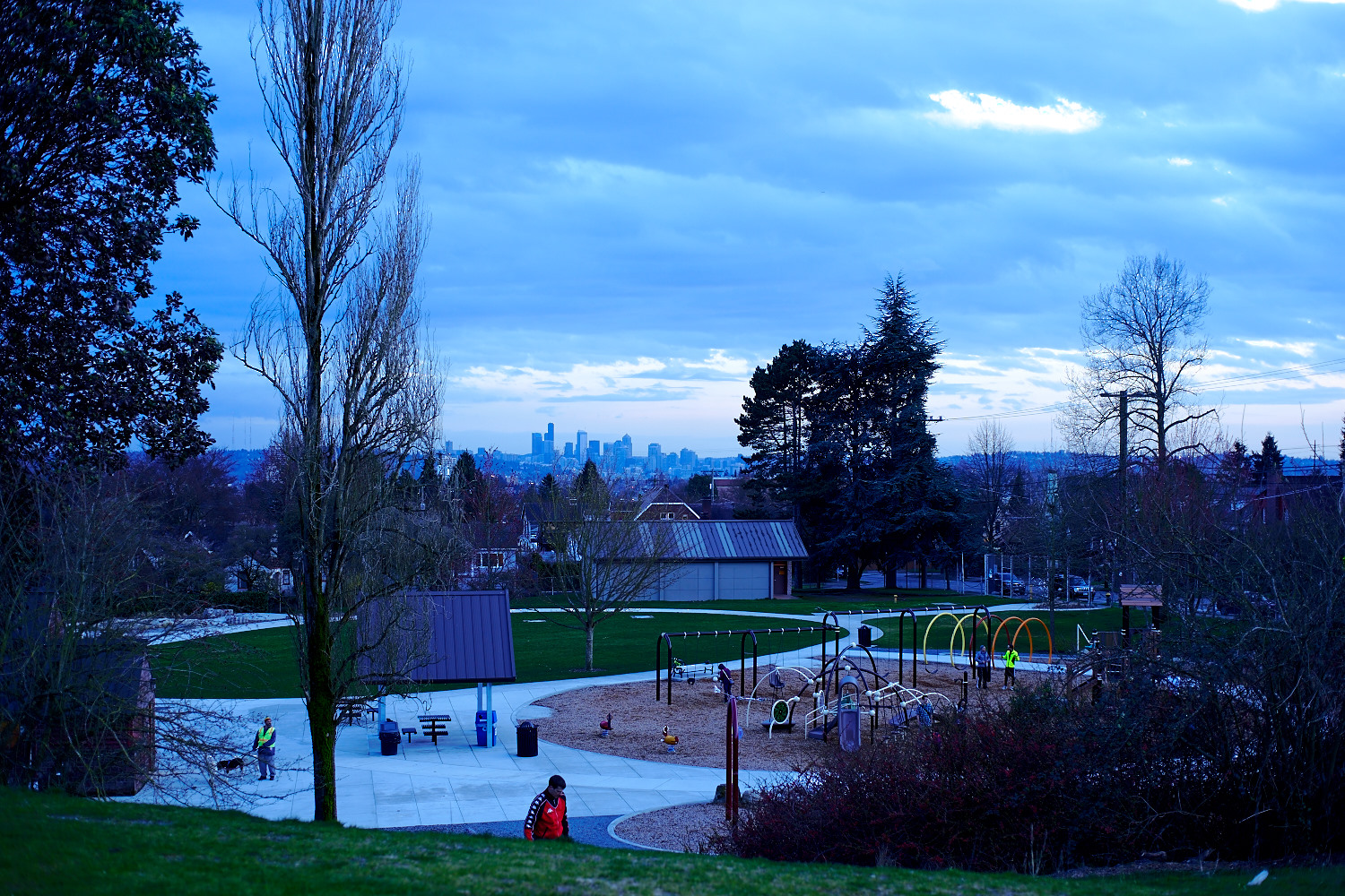 Water Reservoir Park can actually see the skyline from downtown Seattle :)