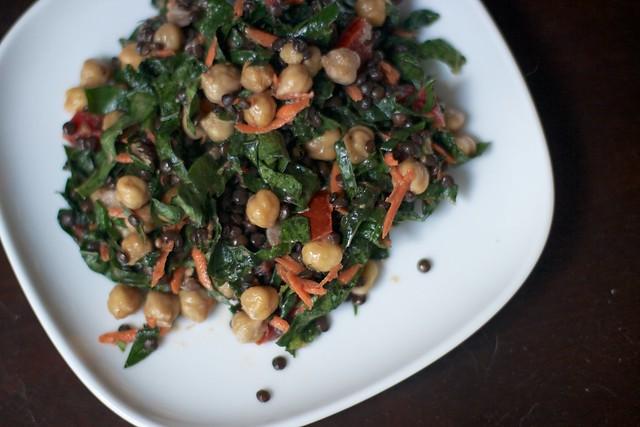 Kale and Black Lentil Salad 1
