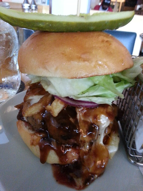 Poutine Burger The Cannibal Cafe Vancouver