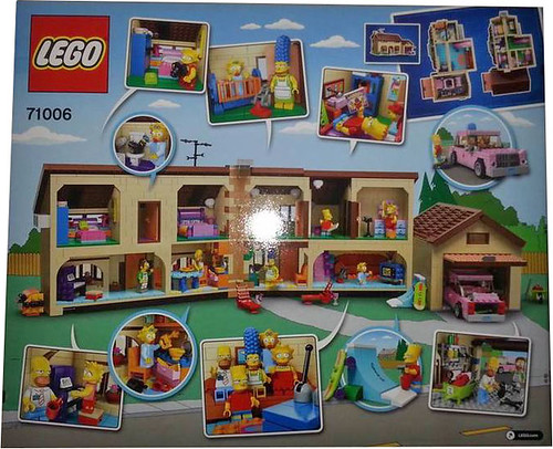LEGO The Simpsons 71006 - The Simpsons House - Box Back