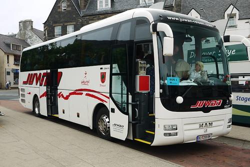 MAN Lion's Coach, Juwan Reisen (Austria), KL 269 BM, Portree bus stance