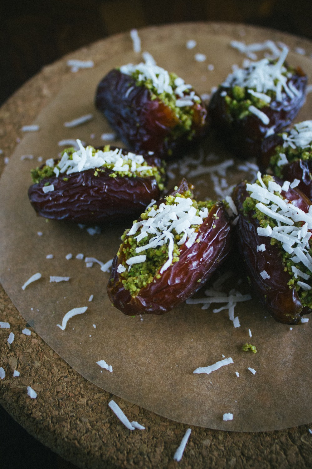 Pistachio-Stuffed Dates With Coconut | Simple Provisions