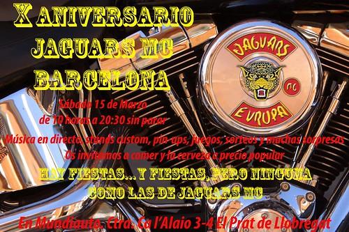 X Aniv. Jaguars MC Barcelons