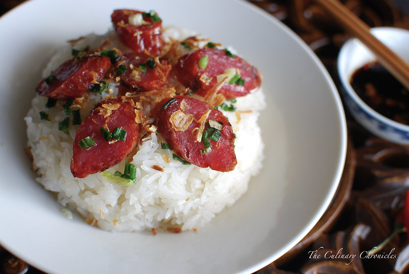Xôi Lạp Xưởng {Sticky Rice with Chinese Sausage}