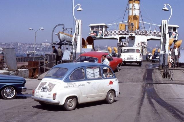 Bosphorus Ferry, Istanbul, Turkey, 1969