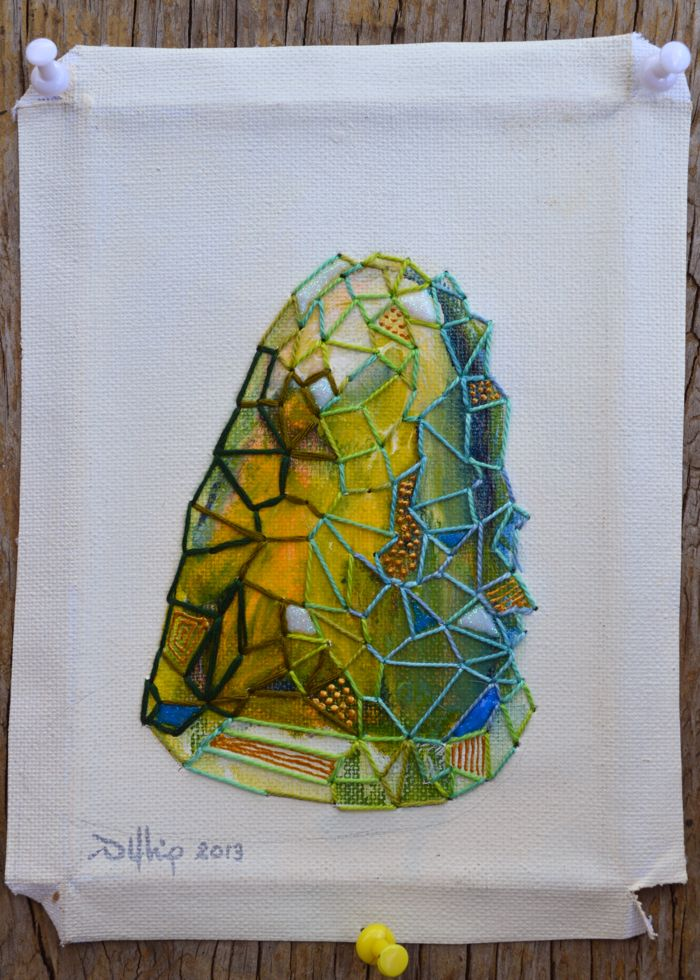 WIP green rock